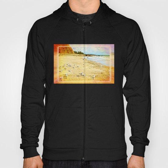 Gulls on the beach Hoody