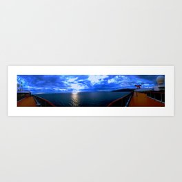 Panorama at Seas Art Print