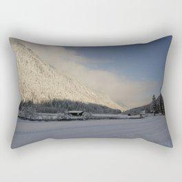 A Peaceful Snow Landsscape Rectangular Pillow