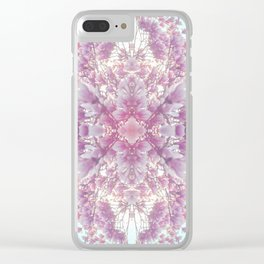 dreams of pink Clear iPhone Case