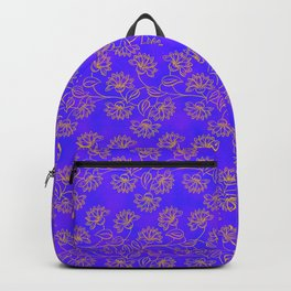 Georgian Floral Gold on Purple Backpack