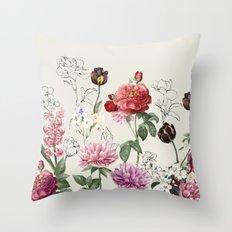 Flowers illustraion Throw Pillow