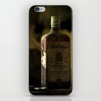 whisky iPhone & iPod Skins featuring Ballantines Finest Scotch Whisky by AliceArtDotCom