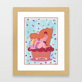 Cupcake Footdlove Framed Art Print