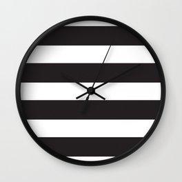 Monochrome Straight Stripes Wall Clock