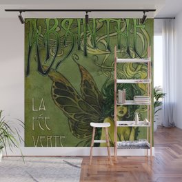 Vintage Parisian Green Fairy Absinthe Alcoholic Aperitif Advertisement Poster Wall Mural
