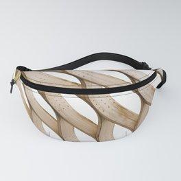 wavy wood Fanny Pack