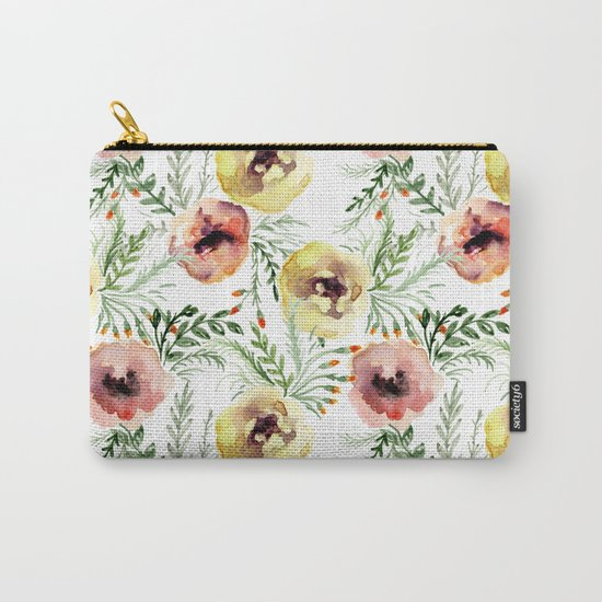 Floral pattern. Watercolor Carry-All Pouch