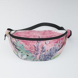 Floral stag antlers Fanny Pack