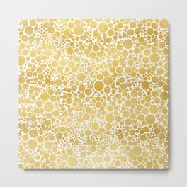 Abstract Metallic Dots Metal Print