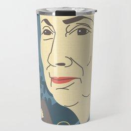 Jane Goodall Portrait Travel Mug