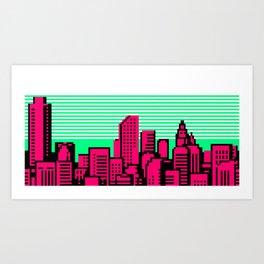 Cityscape #90 A Art Print