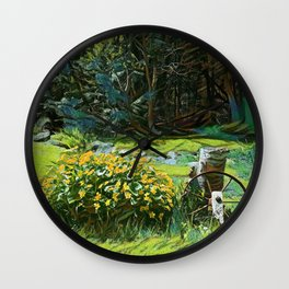 Wagon Wheel landscape Wall Clock
