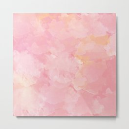 Rose Marble Watercolor #marble #watercolor #artwork #rose #blush #kirovair #homedecor #abstractart Metal Print