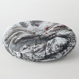 Mountain Village In Norway Floor Pillow