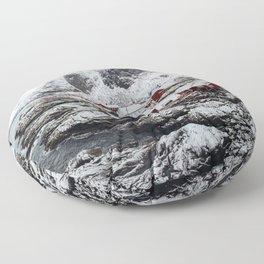 Mountain Village In Norway Floor Pillow