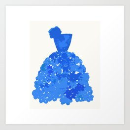 A Pretty Blue Dress Art Print