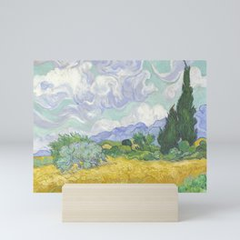 A Wheatfield with Cypresses by Vincent van Gogh Mini Art Print