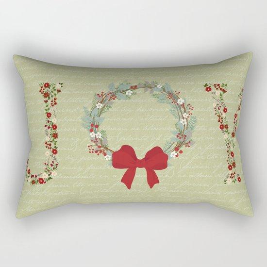 Joy Wreath Rectangular Pillow
