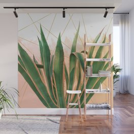 Cactus with geometric Wall Mural
