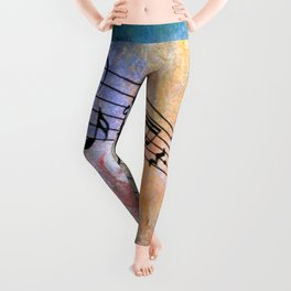 Abstract MUSIC Leggings