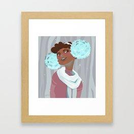 Winter Puffs Framed Art Print