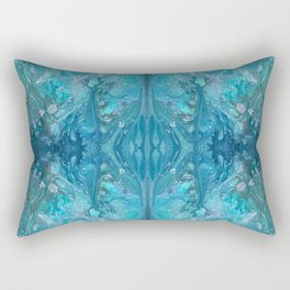 Blue Abstract Background Rectangular Pillow