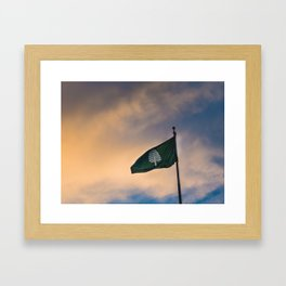 Dartmouth Lone Pine Flag Framed Art Print