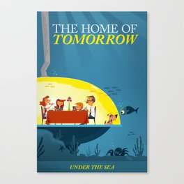Undersea Home of Tomorrow Canvas Print