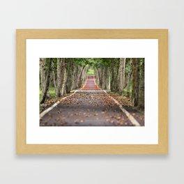wood le chemin Framed Art Print