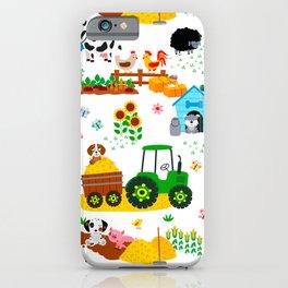 Cute Barnyard Farm Animals Pattern iPhone Case
