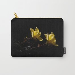Yellow roses on black -4 Carry-All Pouch