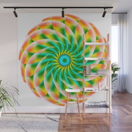 Infinite Lotus Flower Abstract Wall Mural