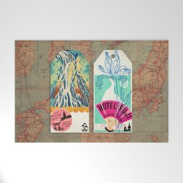 Label Fables, Japan I :: Fine Art Collage Welcome Mat