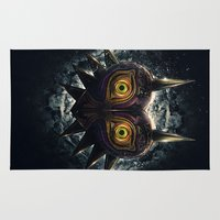 majora Area & Throw Rugs featuring Epic Pure Evil of Majora's Mask by Barrett Biggers