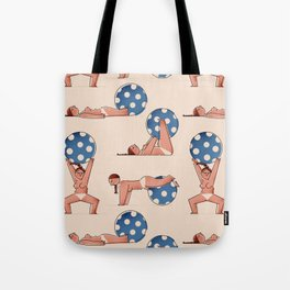 Almost Naked Sporty Chubbies Tote Bag
