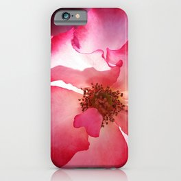 clear red petals iPhone Case