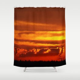 Sunset Layers | Ferntree Gully Shower Curtain