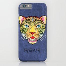 Roar / Retro Wild Cat iPhone Case