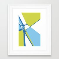 the wire Framed Art Prints featuring High Wire by Ryan Johnson