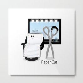 Paper Cut Metal Print