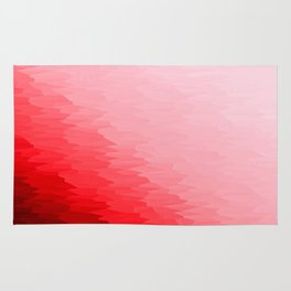 Red Texture Ombre Rug