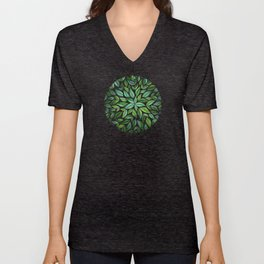Spring Leaf Mandala Unisex V-Neck