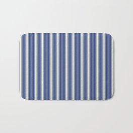 Blue and Cream Stripes Bath Mat