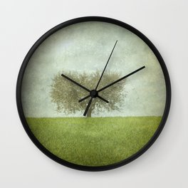 The Lone Olive Tree Wall Clock