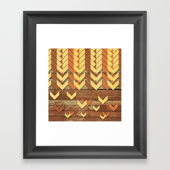 ZigZag Woody Framed Art Print