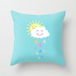 Happy Spring Days  Throw Pillow