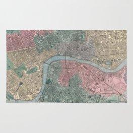 Vintage Map of London England (1865) Rug