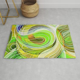 So Everything Is Created Imperfect Woodland Waters Rug