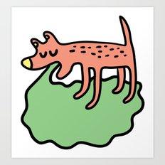 Vomiting dog Art Print